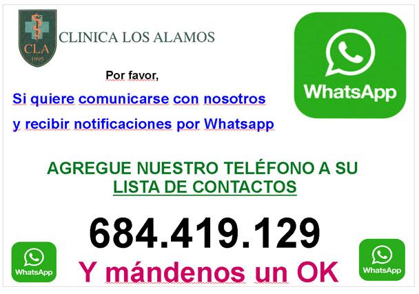 ¿Quieres comunicación directa y rápida con nosotros? ¡Estamos en WhastApp!