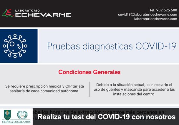 Realiza tu test diagnóstico COVID-19 con Clínica Los Álamos