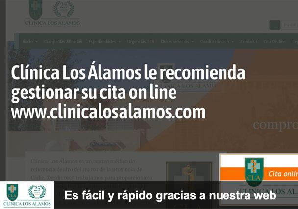 Clínica Los Álamos le recomienda gestionar su cita on line